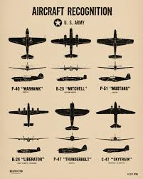 Air Force Aircraft Identification Chart Us Air Force Burma Campaign Wwii Spotting Chart Poster Print From The Spotting Chart Project