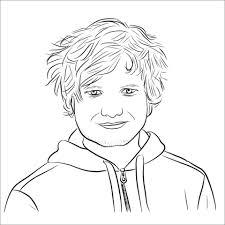Ed Sheeran Kleurplaat Gratis Kleurplaten Printen