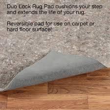 duo lock rectangle rug pad