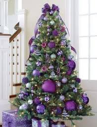 Christmas Tree Decorated In Purple Stunning Christmas Tree Decorating Ideas Purple  Christmas Tree Home Pictures