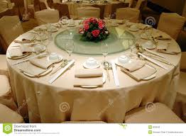 Wedding Banquet Table Setting Royalty Free Stock Photos Image