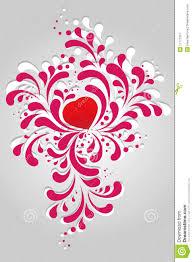 Heart Scrolls Heart And Scrolls Stock Vector Illustration Of Ornate 17777257