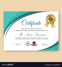 Modern Verified Certificate Background Royalty Free Vector