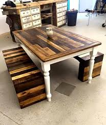 lush style reclaimed pallet wood dining table set furniture homey ideas pallet wood table tables made from pallets jpg