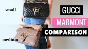 Gucci Marmont Comparison Small Vs Medium