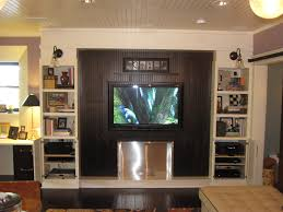 media room furniture ideas. Splendiferous Media Room Ideas With Modern Interior Decors Added Built In Living Shelves And Large Wall Lcd Romantic Ceiling Lights Decorating Furniture