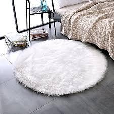 leevan plush sheepskin throw rug faux fur elegant chic style cozy gy floor mat area rugs home decorator super soft carpets kids play rug ivory white