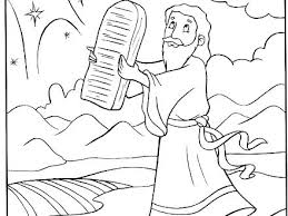 Moses Coloring Pages Baby Page And The Burning Bush Printable Free