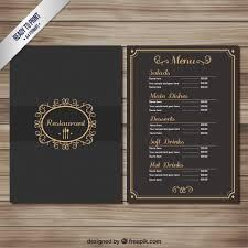 Fancy Restaurant Menu Elegant Restaurant Menu Vector Free Download