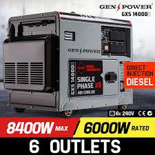 diesel generator. 8,400W Single Phase Diesel Generator - GXS14000D By GenPower