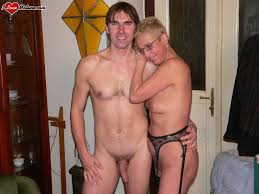 Mature man and woman nude