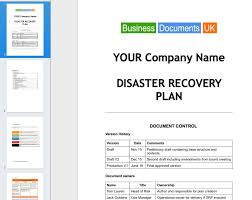 Disaster Recovery Plan Template Manufacturing Disaster Recovery Plan Template Manufacturing Disaster 4