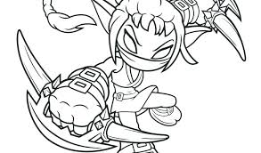 Skylanders Coloring Pages Stealth Elf Giant For Kids Unicorn