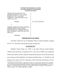 Express Scripts Customer Service Judge Dismisses Suit Claiming Express Scripts Stole Patients