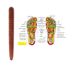Spa Chart Wooden Foot Spa Physiotherapy Reflexology Thai Foot Massage Health Chart Free Massage Stick Tool Free Ship Hot