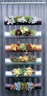 pvc pipe succulents garden is suitable both for indoors and outdoors