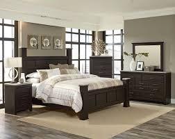 Panel Poster Bed Pecan Finish Gray Tops Stonehill Dark Black Furniture  Bedroom Paint Ideas