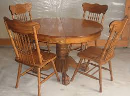 antique oak dining table and 6 chairs fresh antique 47 inch round oak pedestal claw foot dining room table with