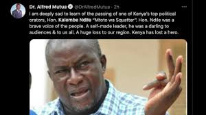 Ndile, who had already recorded a statement with the parliament police station in nairobi claimed he was threatened by unknown individuals in a machakos. Aznpv Xdqvjrtm