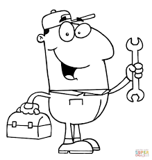 A mechanic coloring page | Free Printable Coloring Pages