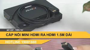 Cáp chuyển tín hiệu MINI HDMI ra cổng HDMI mua ở đâu sẵn hàng Hà Nội -  YouTube