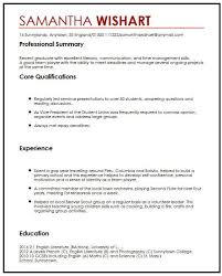 Good Qualifications For A Job Cv Sample With No Job Experience Myperfectcv