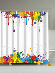 colorful shower curtains. Colorful Paint Splatter Waterproof Bathroom Shower Curtain -. Rosegal Curtains A