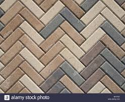 Herringbone Pattern Pavers Delectable Brick Pavers In A Herringbone Pattern Stock Photo 48 Alamy