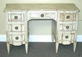 distressed looking furniture. Antique Looking Furniture Desk Attributed Distressed White  French Vanity Style On Fans
