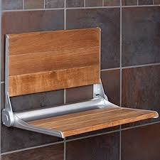 18 inches serena folding shower bench back rest seat