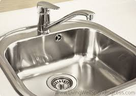 Clean Kitchen Sink Living Well Spending Less Stainless Steel Double