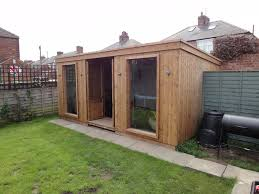 Home office in the garden Modern Home Office Garden Room Garden Rooms Home Office Garden Room Apex Timber Buildings