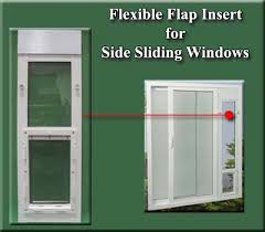 flexible flap inserts for side sliding windows
