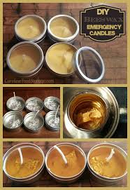 diy emergency beeswax candles