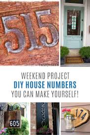 loving these house numbers you can diy this weekend