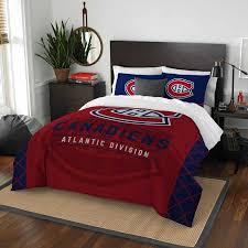montreal canans nhl draft full queen comforter sham set