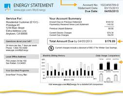 phone bill example understanding your energy statement