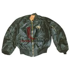 green broken arrow leather jacket