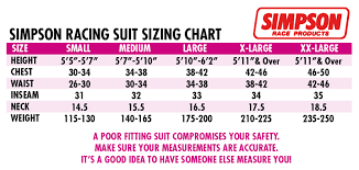 Kart Suit Size Chart Bell Formula Sfi 3 2a 5 1 Piece Racing Suits