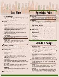 menu template free printable menu