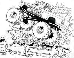 Free Printable Monster Truck Coloring Pages For Kids Fire Toddlers