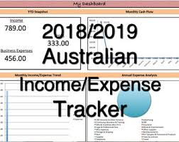 Monthly Expenses Spreadsheet Small Business Income Expense Tracker Monthly Budget And Cash Etsy
