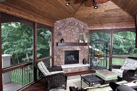 sunroom with fireplace four season rooms fireplaces ideas