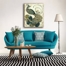 Peacock Color Living Room Compare Prices On Peacock Painting With Frame Online Shopping Buy