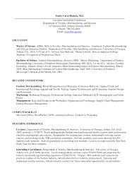 Gallery Of Resume For Fashion Industry