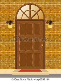 house door clipart. Facade Of House With Door - Csp6294194 Clipart