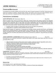 Good Objectives For Resumes Carpenter Resume Objective Samples