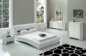 White Leather Bed And Wooden White Bedroom Furniture Set Bedroom ...