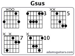 Gsus Guitar Chords From Adamsguitars Com