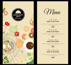 Restaurant Menu Template Restaurant Menu Template Food Icons Decoration Classical